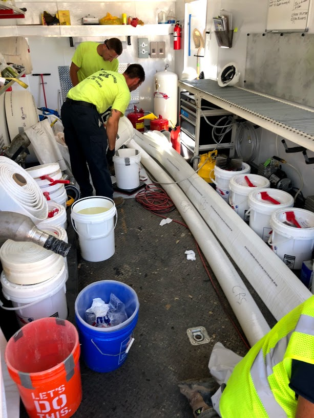 Sewer pipe relining preparation