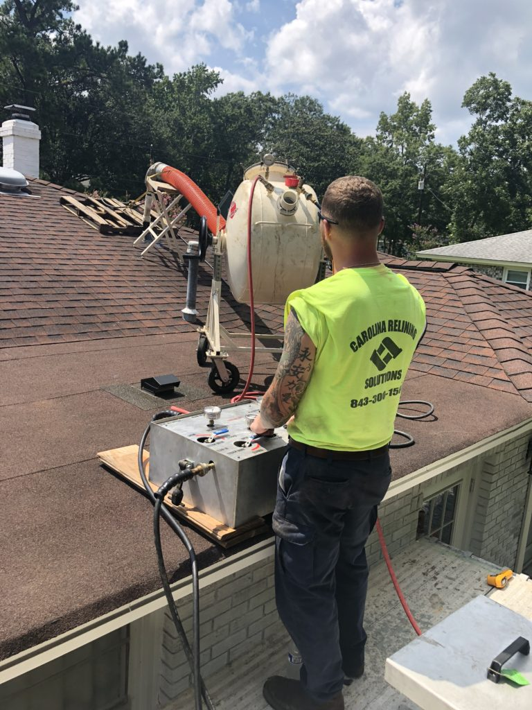 pipe relining trench less repair rooftop